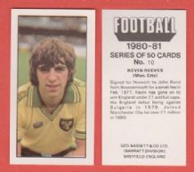 Norwich City Kevin Reeves 10
